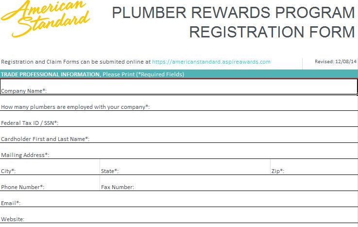 American Standard Plumber S Rewards Plumbing Hvac