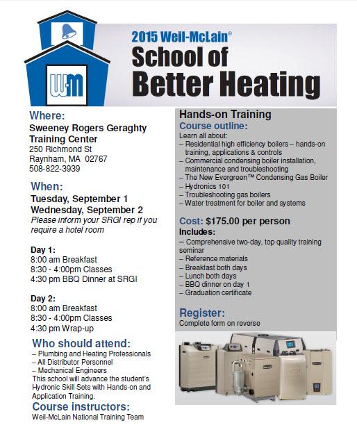 2015 Weil-McLain School of Better Heating